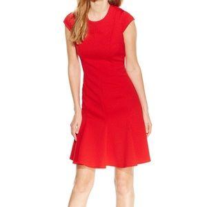 Calvin Klein Petite Cap Sleeve Dress